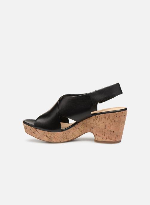 Sandales et nu-pieds Clarks Maritsa Lara Noir vue face