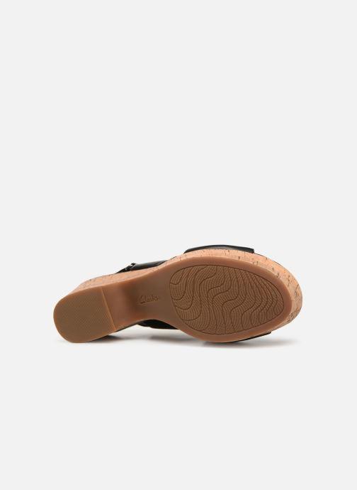 Sandales et nu-pieds Clarks Maritsa Lara Noir vue haut