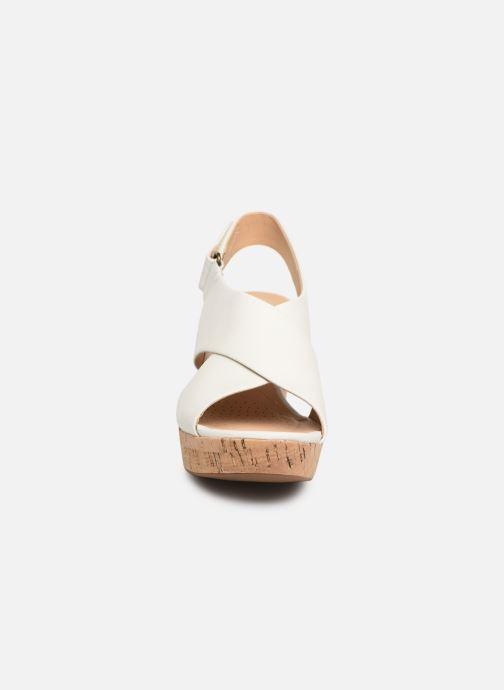 Sandalen Clarks Maritsa Lara weiß schuhe getragen