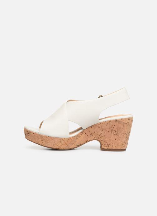 Sandali e scarpe aperte Clarks Maritsa Lara Bianco immagine frontale