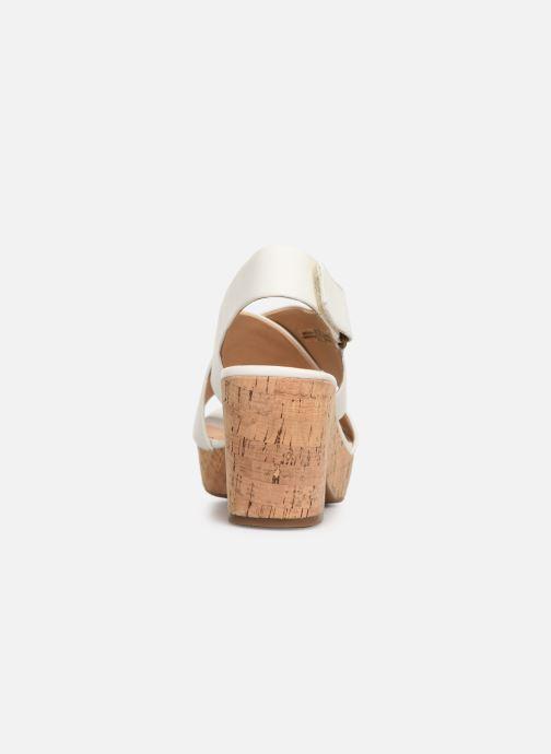 Sandali e scarpe aperte Clarks Maritsa Lara Bianco immagine destra