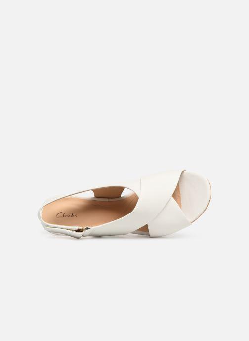 Sandales et nu-pieds Clarks Maritsa Lara Blanc vue gauche