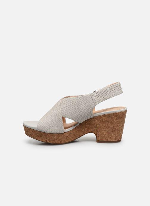 Sandales et nu-pieds Clarks Maritsa Lara Blanc vue face