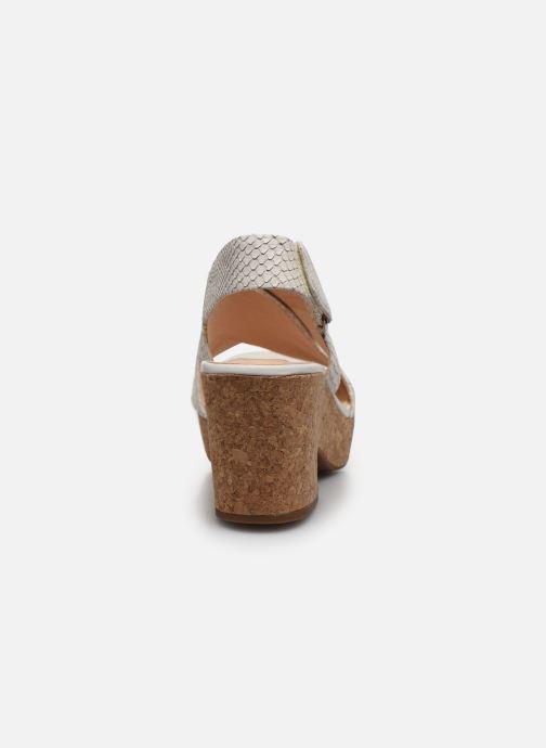 Sandales et nu-pieds Clarks Maritsa Lara Blanc vue droite