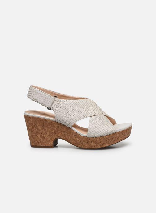 Sandales et nu-pieds Clarks Maritsa Lara Blanc vue derrière