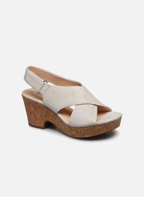 Sandales et nu-pieds Clarks Maritsa Lara Blanc vue détail/paire