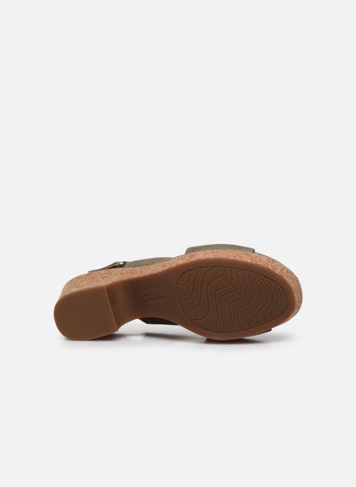 Sandali e scarpe aperte Clarks Maritsa Lara Verde immagine dall'alto