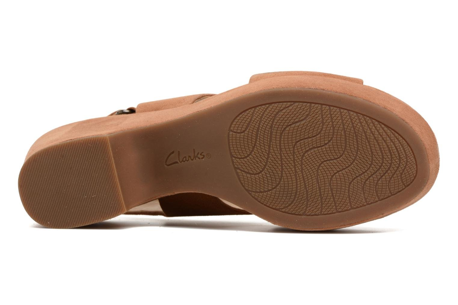 Sandals Clarks Maritsa Lara Brown view from above