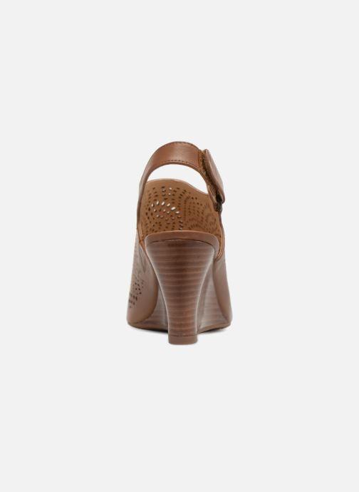 Sandales et nu-pieds Clarks Raven Dawn Marron vue droite