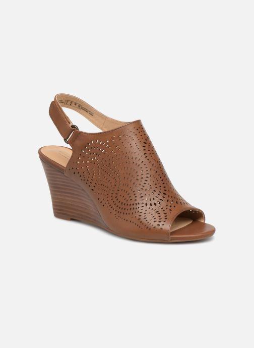 Sandaler Clarks Raven Dawn Brun detaljeret billede af skoene
