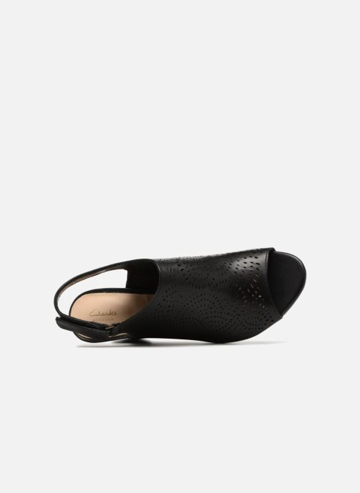 Sandals Clarks Raven Dawn Black view from the left