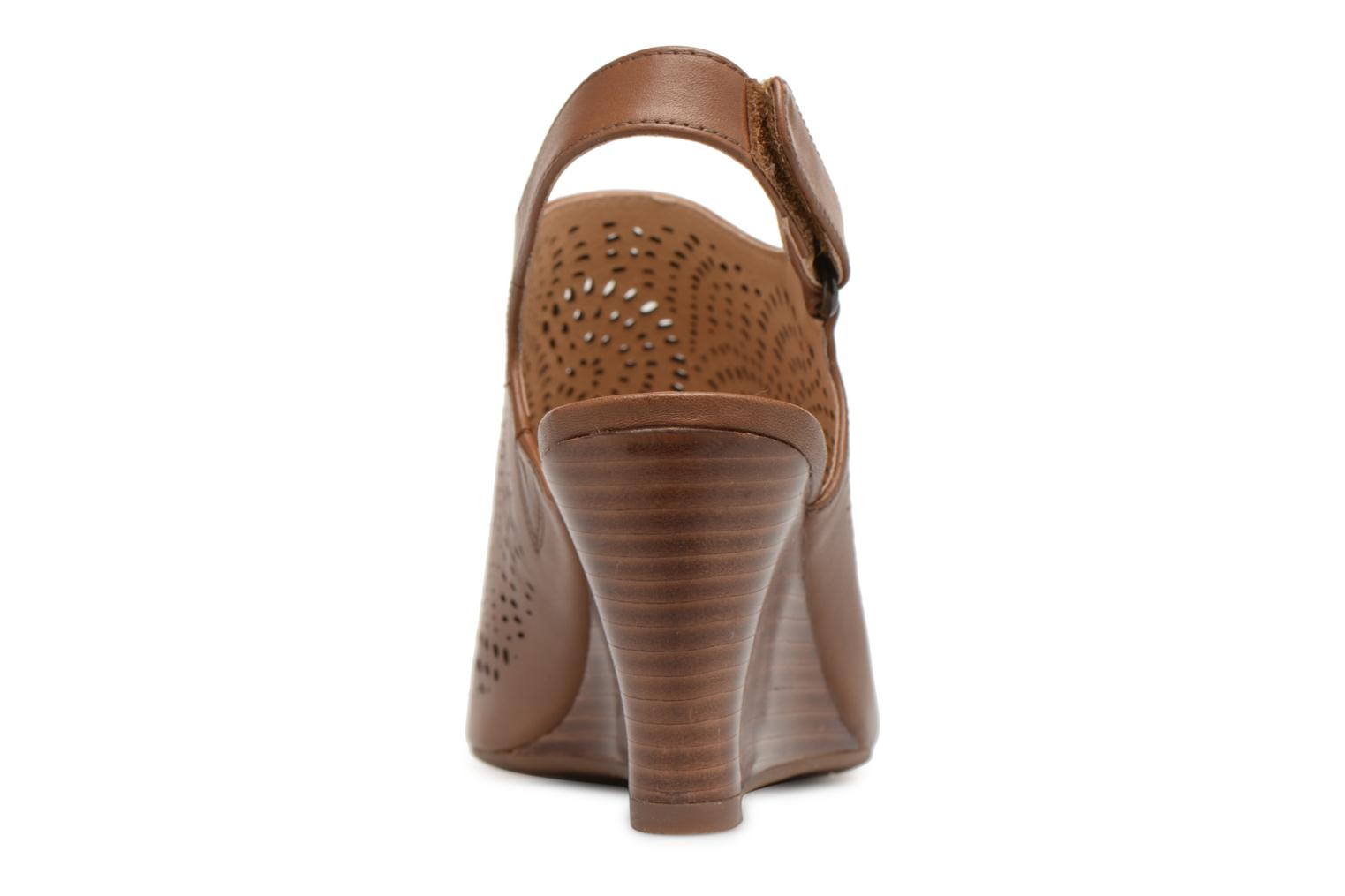Sandals Clarks Raven Dawn Brown view from the right