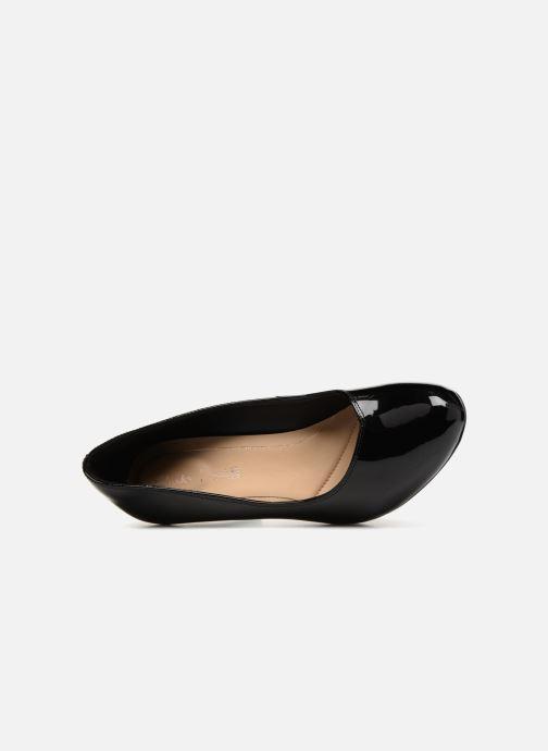 Zapatos de tacón Clarks Dalia Rose Negro vista lateral izquierda