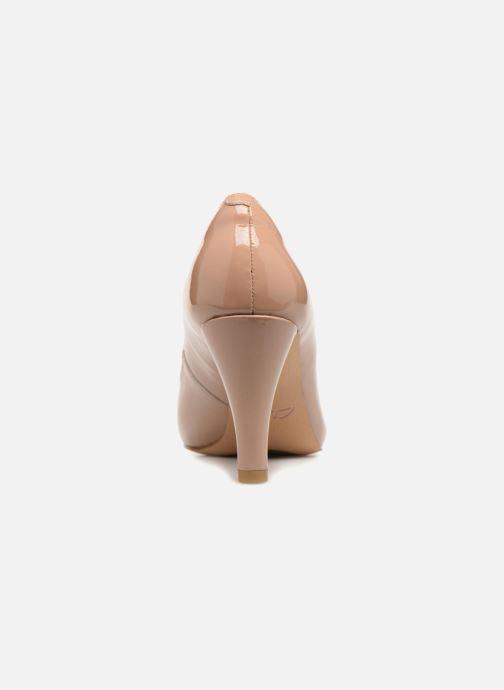 Zapatos de tacón Clarks Dalia Rose Beige vista lateral derecha