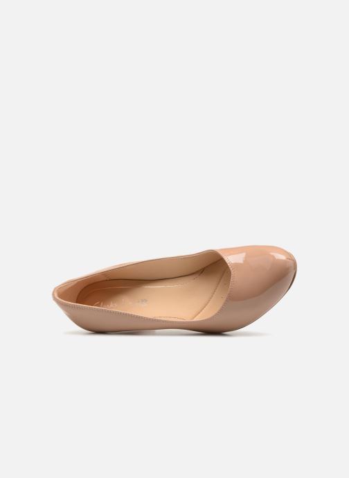 Zapatos de tacón Clarks Dalia Rose Beige vista lateral izquierda