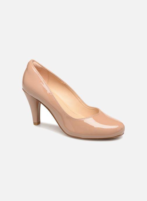 Høje hæle Clarks Dalia Rose Beige detaljeret billede af skoene