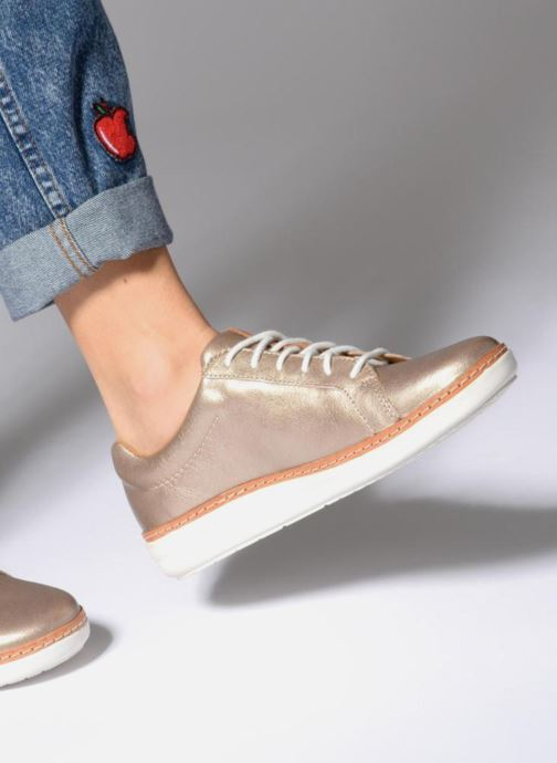 Lace-up shoes Clarks Amberlee Rosa Beige view from underneath / model view