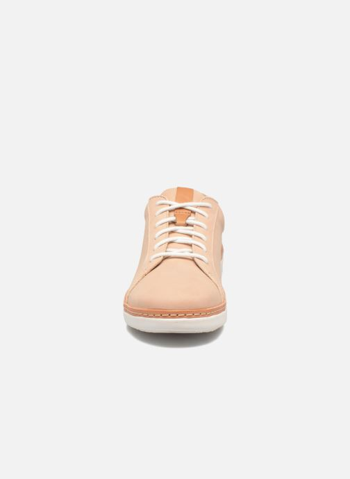 Lace-up shoes Clarks Amberlee Rosa Beige model view
