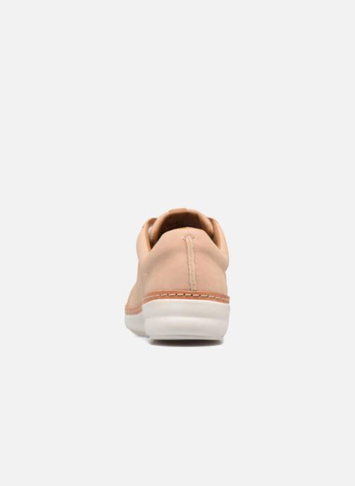 Snörade skor Clarks Amberlee Rosa Beige Bild från höger sidan