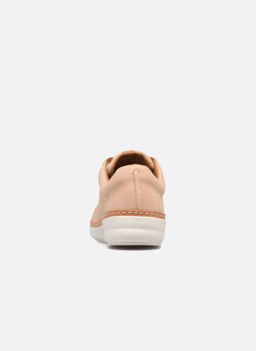 Lace-up shoes Clarks Amberlee Rosa Beige view from the right