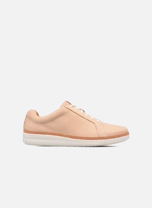 Lace-up shoes Clarks Amberlee Rosa Beige back view