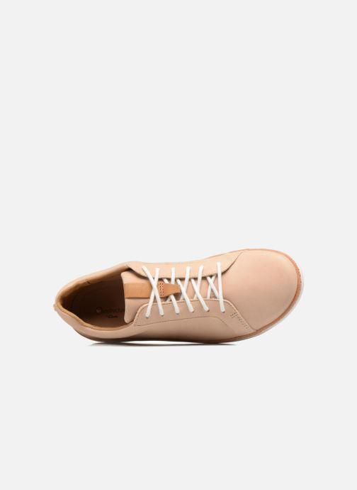 Snörade skor Clarks Amberlee Rosa Beige bild från vänster sidan