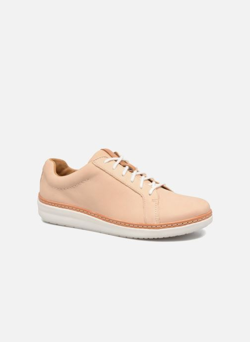 Lace-up shoes Clarks Amberlee Rosa Beige detailed view/ Pair view