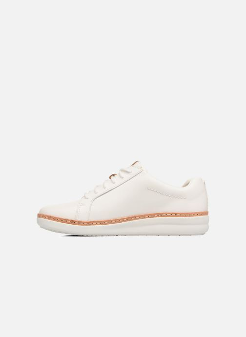 Chaussures à lacets Clarks Amberlee Rosa Blanc vue face