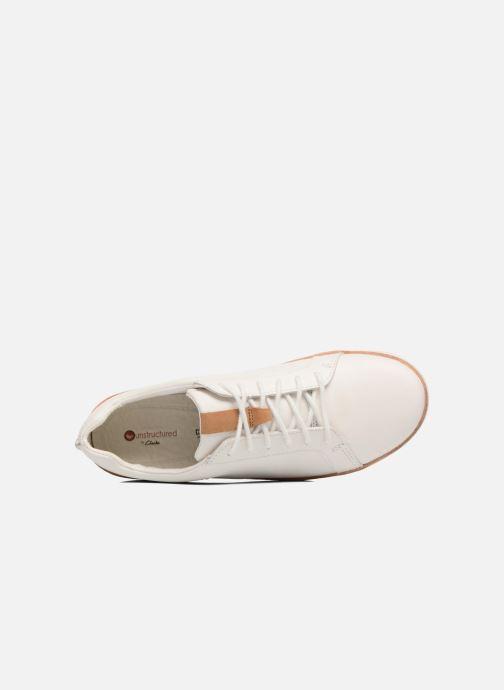 Chaussures à lacets Clarks Amberlee Rosa Blanc vue gauche