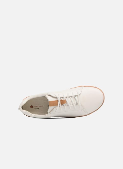 Chaussures à lacets Clarks Amberlee Rosa Blanc vue gauche