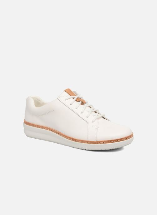 Chaussures à lacets Clarks Amberlee Rosa Blanc vue détail/paire