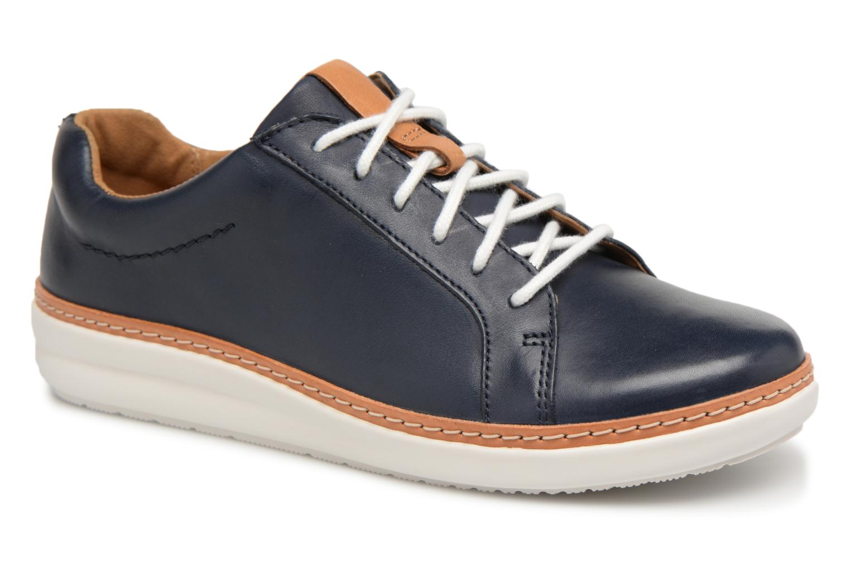 Chaussures à lacets Clarks Amberlee Rosa Bleu vue détail/paire