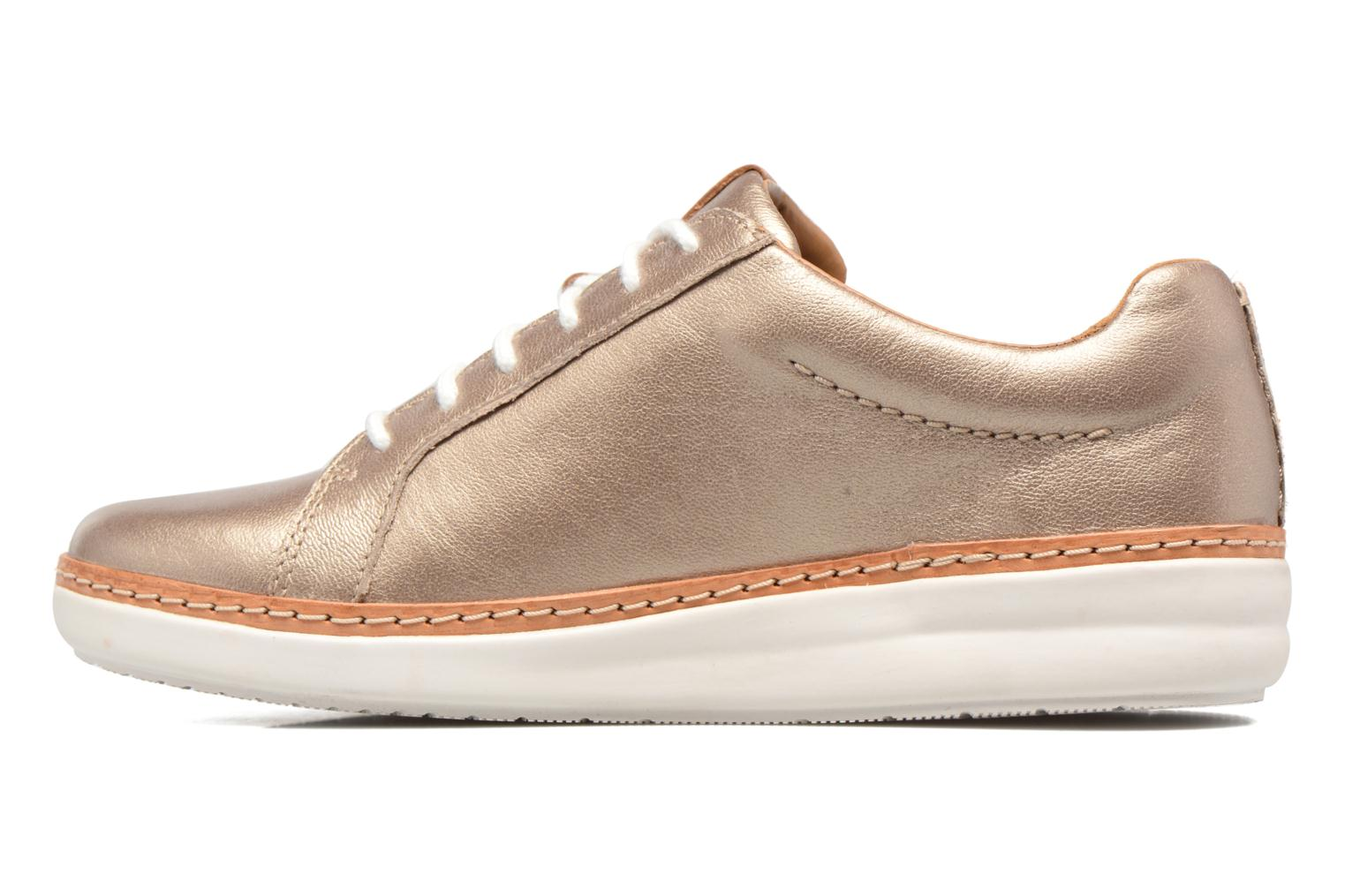 Chaussures à lacets Clarks Amberlee Rosa Or et bronze vue face