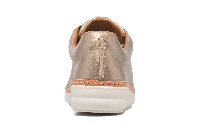Chaussures à lacets Clarks Amberlee Rosa Or et bronze vue droite