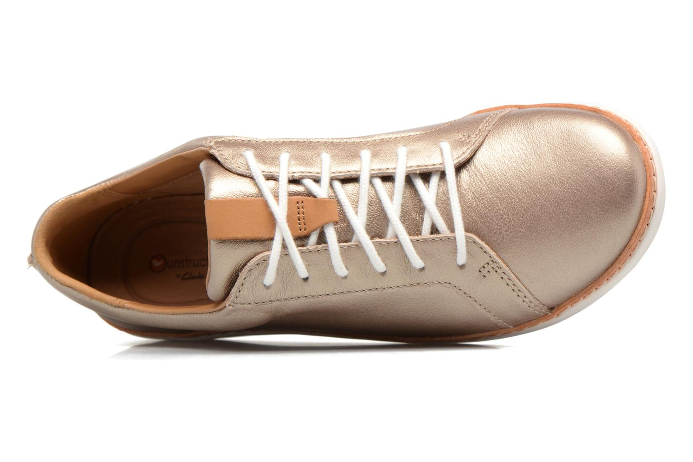 Chaussures à lacets Clarks Amberlee Rosa Or et bronze vue gauche