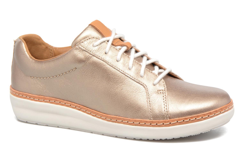 Chaussures à lacets Clarks Amberlee Rosa Or et bronze vue détail/paire