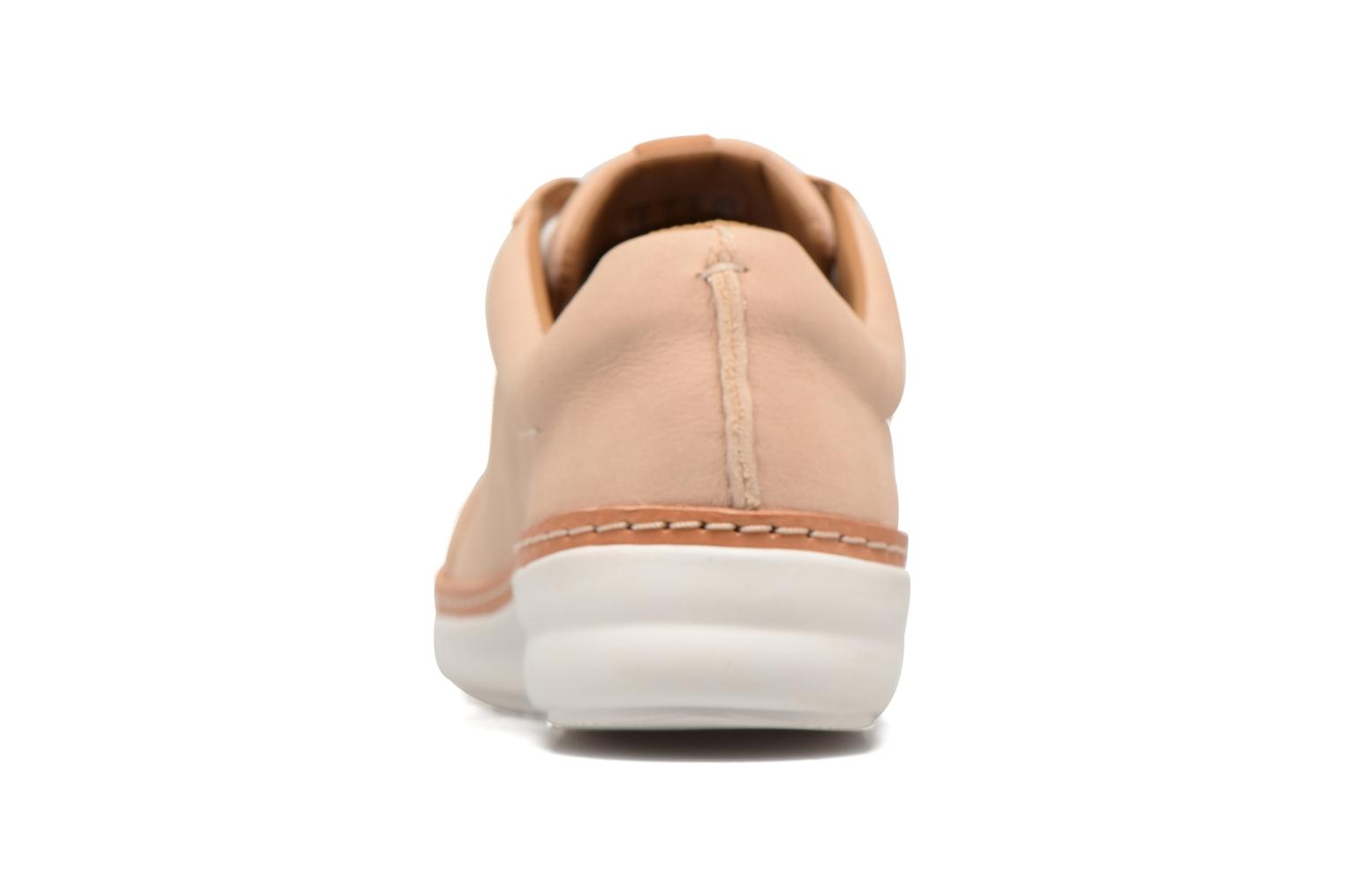 Chaussures à lacets Clarks Amberlee Rosa Beige vue droite