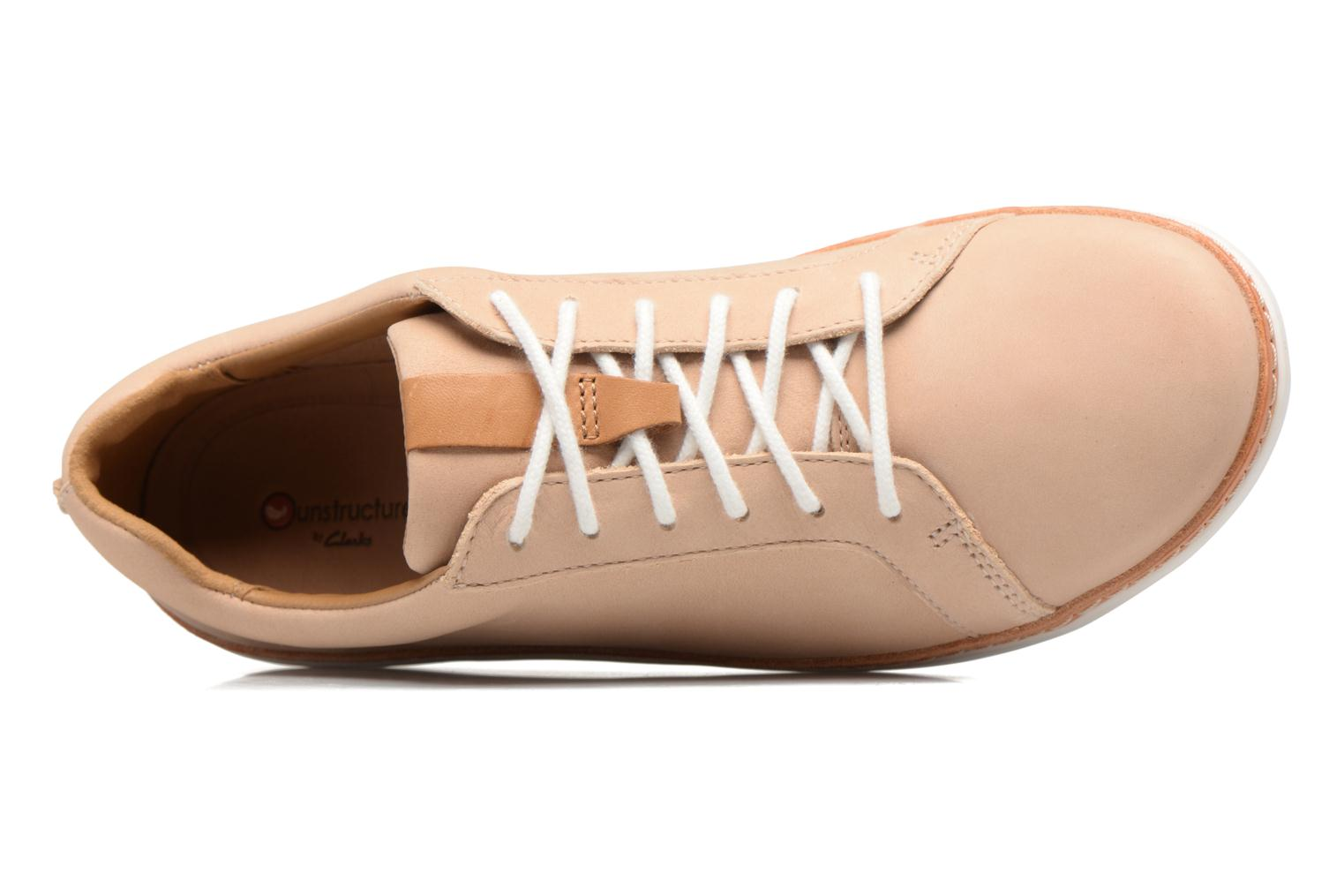 Chaussures à lacets Clarks Amberlee Rosa Beige vue gauche