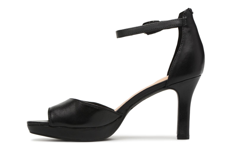 Sandales et nu-pieds Clarks Mayra Dove Noir vue face