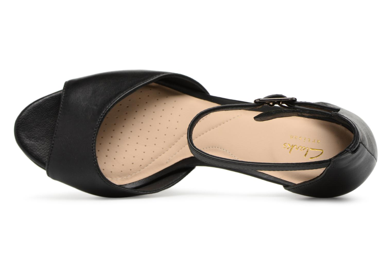 Sandales et nu-pieds Clarks Mayra Dove Noir vue gauche