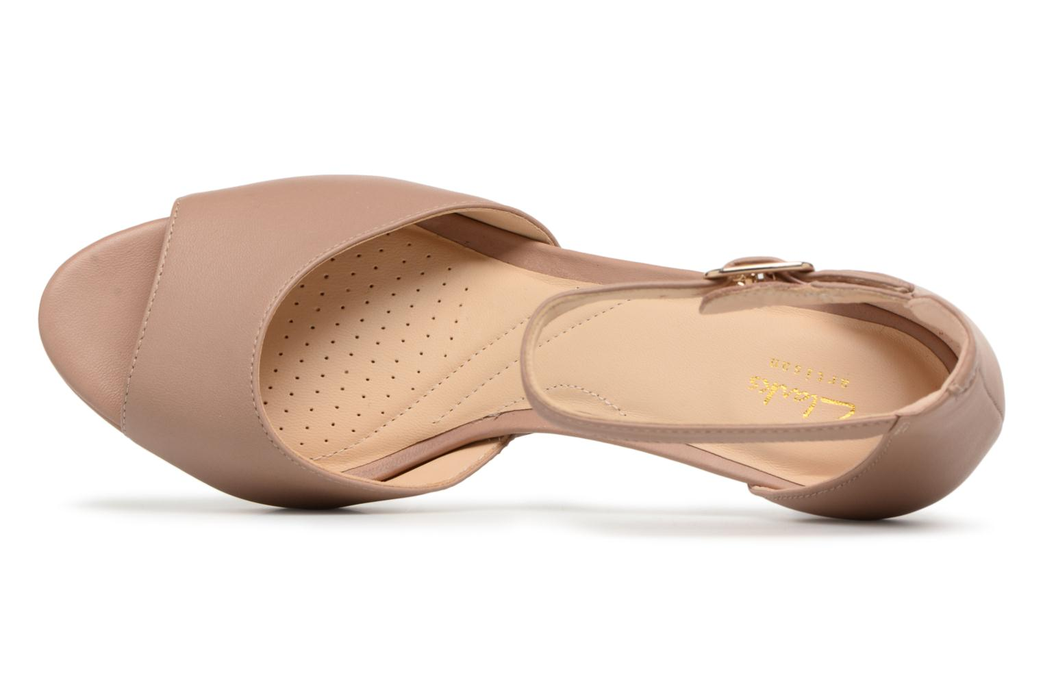 Sandals Clarks Mayra Dove Beige view from the left