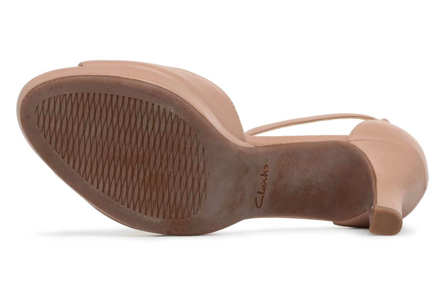 Sandals Clarks Mayra Dove Beige view from above