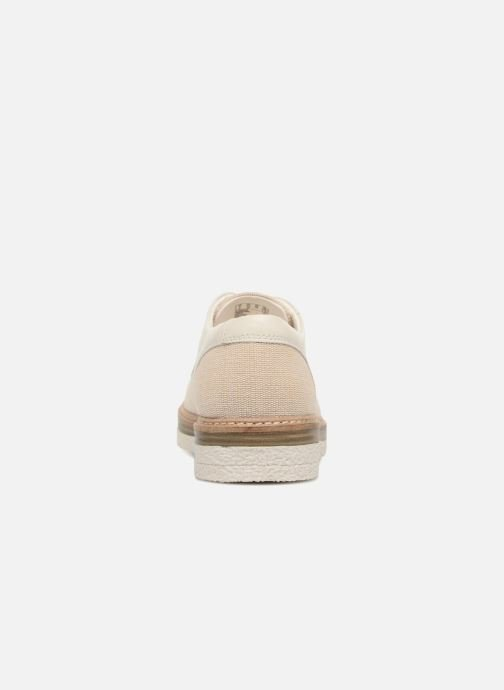 Lace-up shoes Clarks Zante Sienna White view from the right