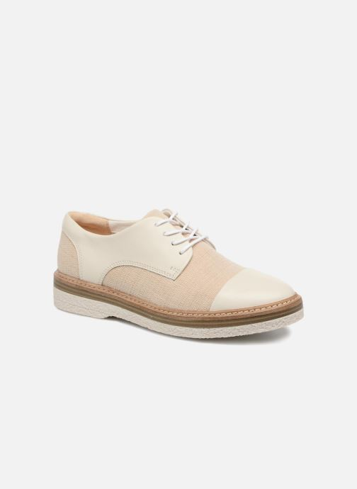 Chaussures à lacets Clarks Zante Sienna Blanc vue détail/paire
