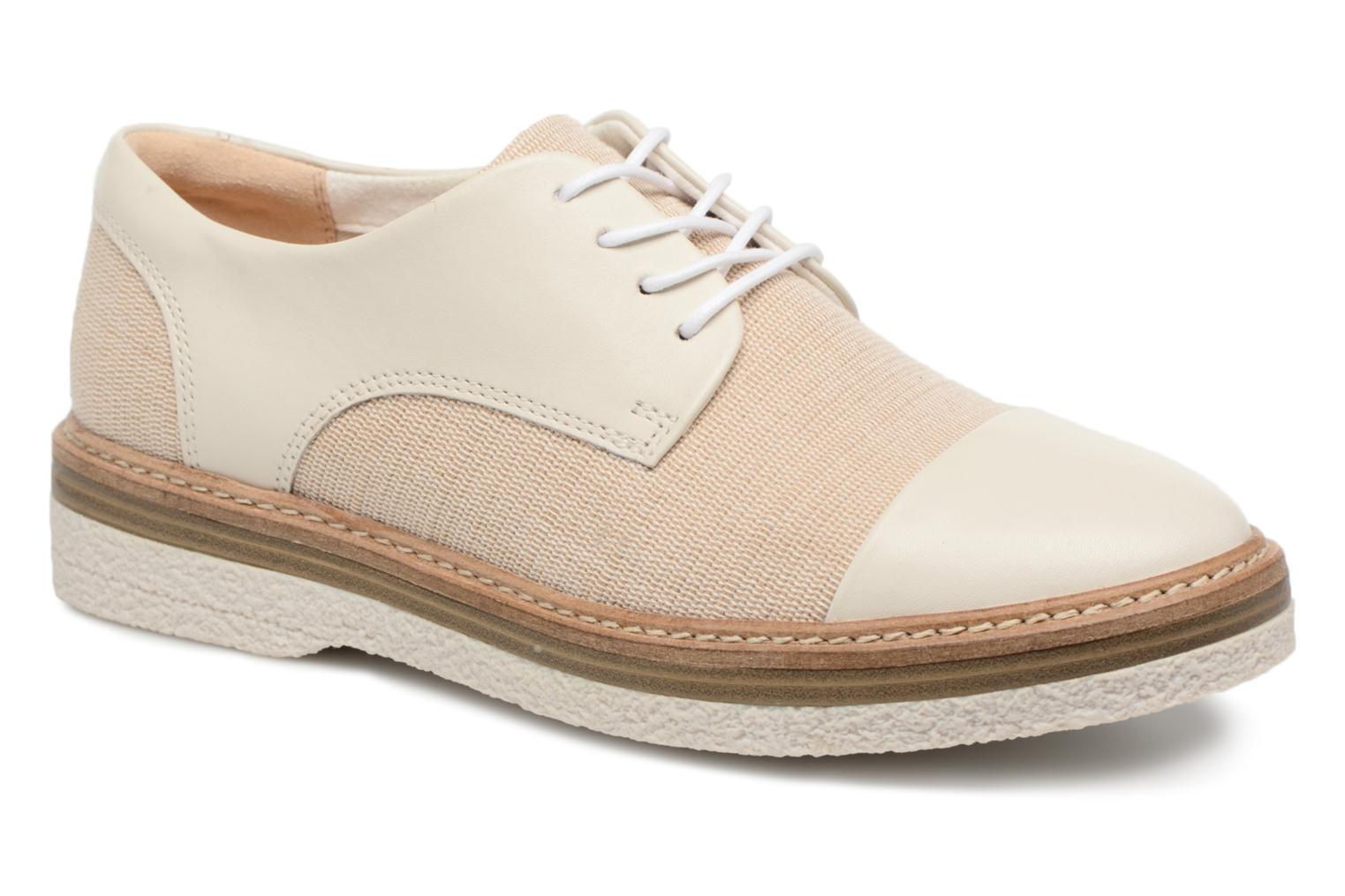 Lace-up shoes Clarks Zante Sienna White detailed view/ Pair view