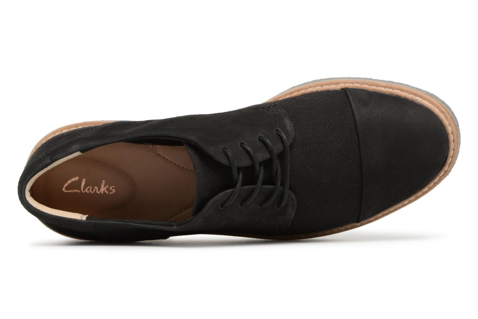 Lace-up shoes Clarks Zante Sienna Black view from the left