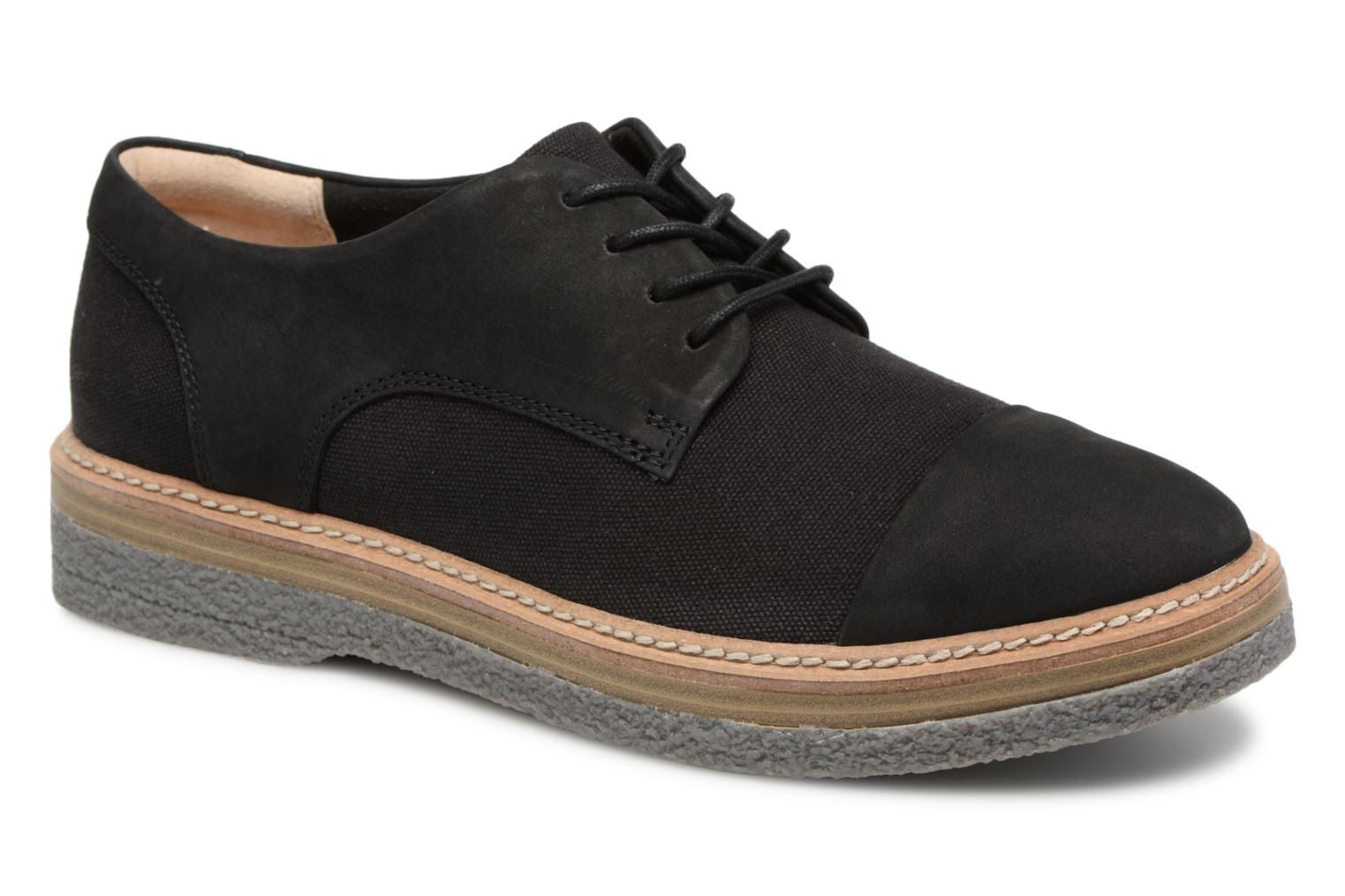Lace-up shoes Clarks Zante Sienna Black detailed view/ Pair view