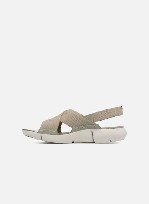 Sandales et nu-pieds Clarks Tri Chloe Vert vue face