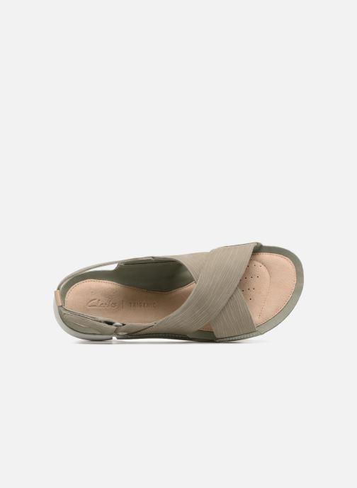 Sandales et nu-pieds Clarks Tri Chloe Vert vue gauche