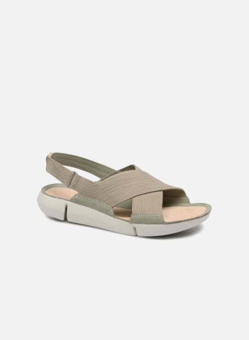 Sandales et nu-pieds Clarks Tri Chloe Vert vue détail/paire